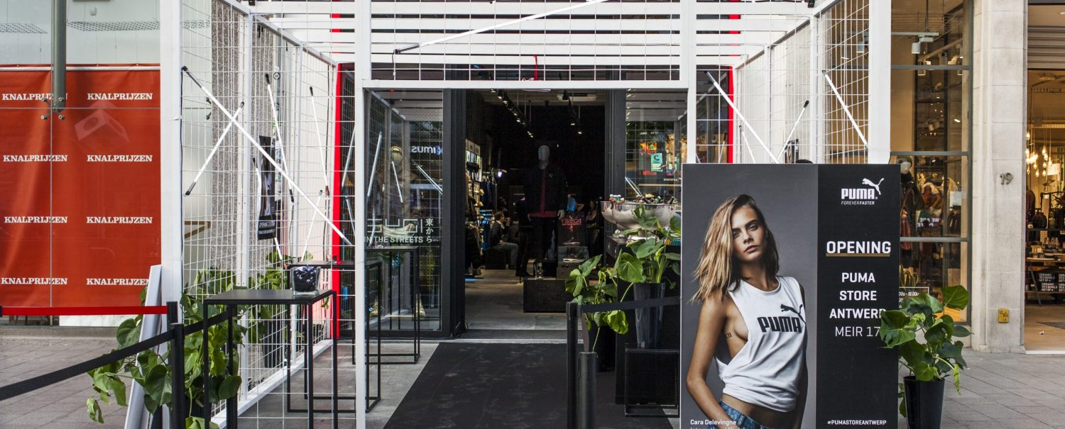 Nightingale Puma flagship store Antwerp launch day